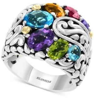 Effy Multi-Gemstone Statement Ring (5-1/5 ct. t.w.) in Sterling Silver & 18k Gold