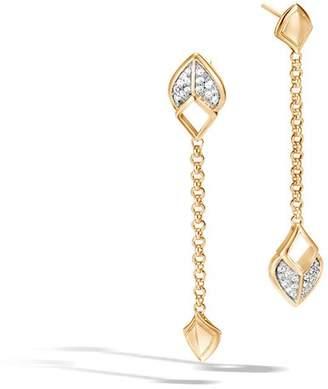 John Hardy Naga Drop Earring With Diamonds