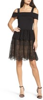 French Connection Women's Amelia Lace A-Line Dress
