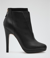 Reiss Sawyer LEATHER ANKLE BOOTS