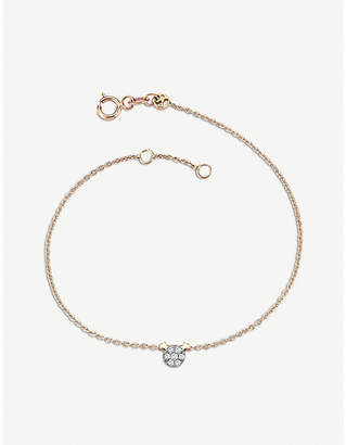 Rosegold The Alkemistry Kismet by Milka 14ct rose-gold and diamond gemini bracelet