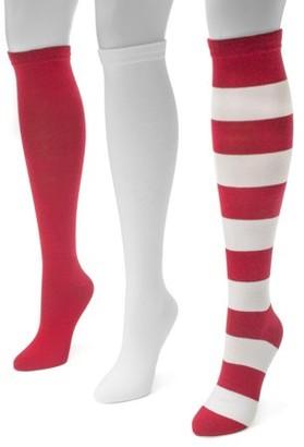 Muk Luks Game Day 3 Pair Pack Knee High Socks