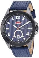ESQ Men's Stainless Steel Watch w/ Blue Leather Strap FE/0071