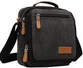 Fashion Story Men Vintage Multifunction Canvas Outdoor Messenger Shoulder Handbag