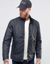 Barbour Harrington Wax Jacket In Navy