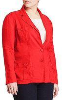 Lauren Ralph Lauren Plus Linen 3-Button Blazer