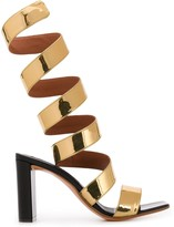 Y/Project metallic open-toe sandals