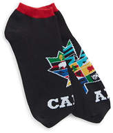 Canadian Paralympic Team Collection Mens No-Show Maple Leaf Graphic Socks