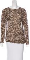 Dries Van Noten Leopard Print Long Sleeve Top