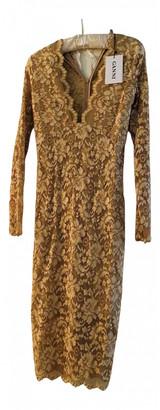 Ganni Beige Lace Dresses