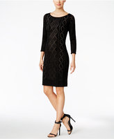 Calvin Klein Petite Perforated Sweater Dress