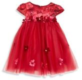 Biscotti Baby's Flower Applique Fit-&-Flare Dress