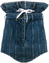 Y/Project Y / Project double waist denim mini skirt