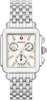 Michele Deco Diamond Dial Watch Head & Bracelet, 33mm