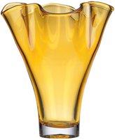 Lenox Organics Ruffle Crystal Vase Amber