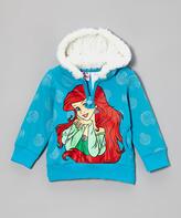 Children's Apparel Network Medium Blue Little Mermaid Hoodie - Infant
