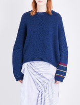 J.W.Anderson Contrast knitted cotton jumper