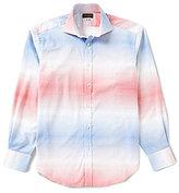 Thomas Dean Checked Long-Sleeve Woven Shirt