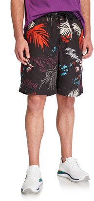 Diesel Men's P Notery Foliage-Print Shorts