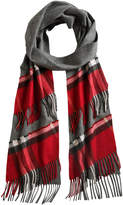 Burberry tartan scarf