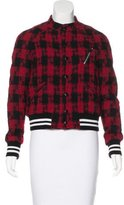 Satine Plaid Bomber Jacket