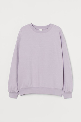 H&M Cotton-blend Sweatshirt - Purple
