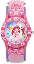 Disney Princess Kids' Ariel, Cinderella & Tiana Time Teacher Watch