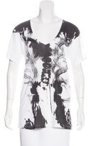 McQ by Alexander McQueen Short Sleeve Graphic Print Top