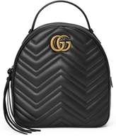 Gucci Gg Marmont Matelasse Quilted Leather Backpack - Black
