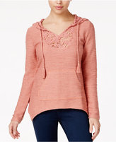 American Rag Crocheted Handerchief-Hem Hoodie, Only at Macy's