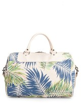 Sole Society Print Faux Leather Duffel Bag - Pink