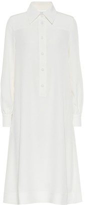 Co Crepe shirt dress