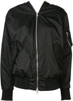 Yang Li double zip bomber jacket - women - Polyamide/Polyurethane - 42