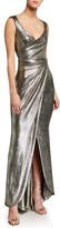 Talbot Runhof Twisted Metallic Jersey Gown