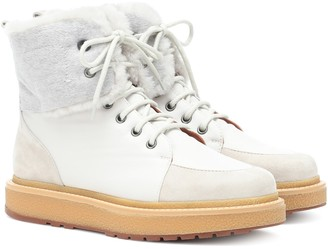 Loro Piana Elmira fur-trimmed sneakers