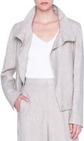 Akris Punto Raw Washed Linen Stand-Collar Jacket