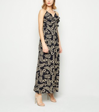 New Look Mela Leaf Print Maxi Dress