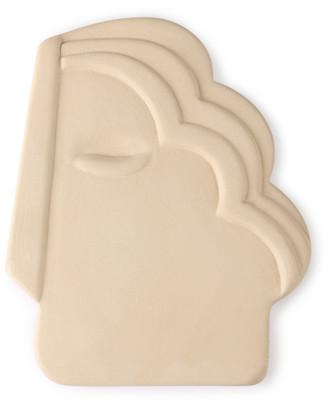 HKliving - Matt Cream Terracotta Mask Wall Ornament