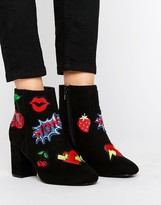 Asos Rise & Shine Patchwork Ankle Boots