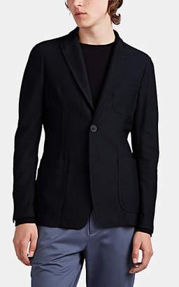 Giorgio Armani Men's Honeycomb-Mesh Two-Button Sportcoat - Navy