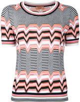 Missoni zigzag pattern knitted T-shirt - women - Polyester/Viscose/Wool - 40