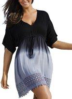 WOMEN'S BOUTIQUE Summer Mae Women's Plus Size V-neck Gradient Lace Beach Dress