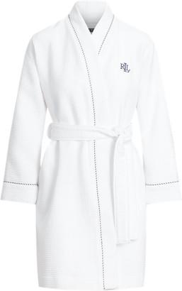 Ralph Lauren Waffle-Knit Terry Cloth Robe