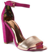 Ted Baker Caiye Leather and Suede Ankle Strap Sandals