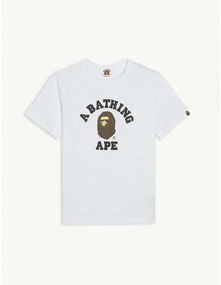 A Bathing Ape College logo-printed cotton T-shirt 4-8 years