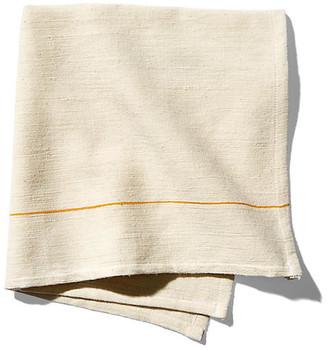 Bole Road Textiles Set of 4 Sunflower Dinner Napkins - Ecru