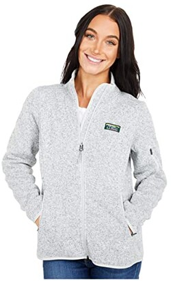 L.L. Bean L.L.Bean Petite Sweater Fleece Full Zip Jacket (Pewter) Women's Clothing