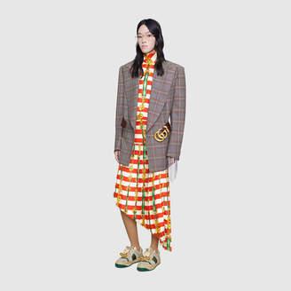 Gucci Striped passementerie print dress