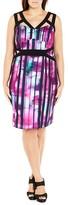 City Chic Cutout Stripe Sheath Dress