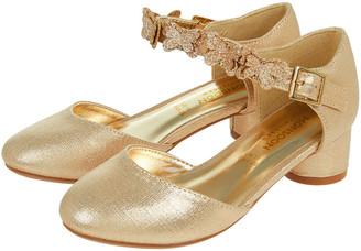 Monsoon Savannah Butterfly Metallic Shoes Gold